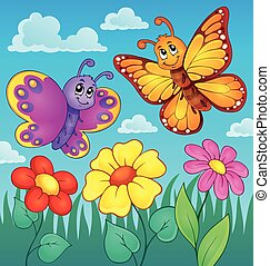 Happy butterflies theme image 7 - eps10 vector illustration.