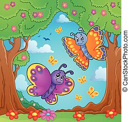 Happy butterflies theme image 8 - eps10 vector illustration