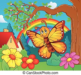 Happy butterfly topic image 3 - eps10 vector illustration
