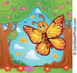 Happy butterfly topic image 4 - eps10 vector illustration