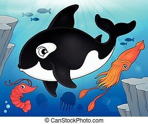 Ocean fauna topic image 9 - eps10 vector illustration