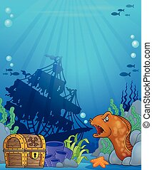 Ocean underwater theme background 6 - eps10 vector...