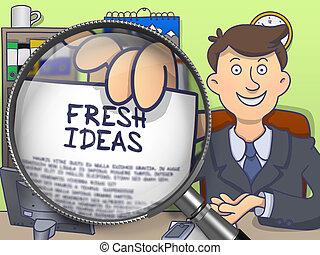 Fresh Ideas through Lens. Doodle Concept.