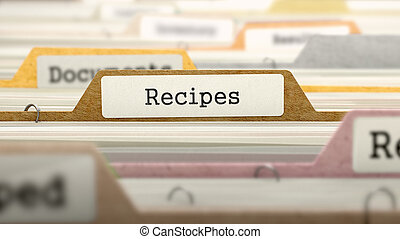 Recipes Concept Folders in Catalog - Recipes Concept Colored...