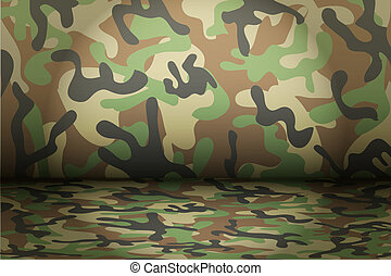 Woodland Camouflage background Mockup for presentation items...