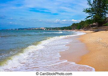 Sandy beach in Mui Ne, Vietnam, Southeast Asia