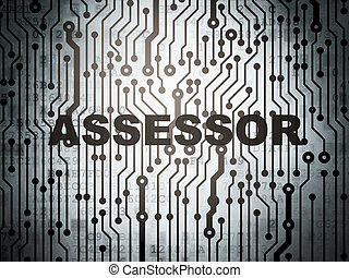 Insurance concept: circuit board with Assessor - Insurance...