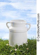 Old style milk jug