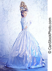 ice queen - Full length portrait of a beautiful young lady...