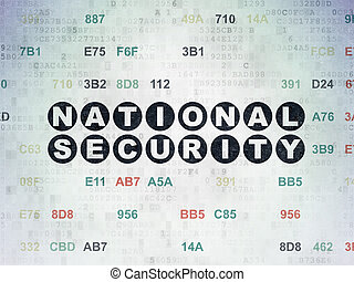 Privacy concept: National Security on Digital Paper background