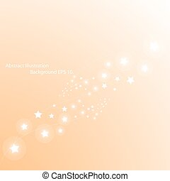 Magic stars way. Abstract vector background.