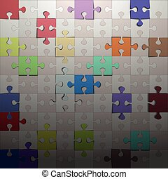 Colorful puzzle background.