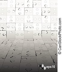 Abstract puzzle background.