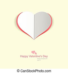 Paper heart. - Happy Valentines Day - Paper heart. Vector...