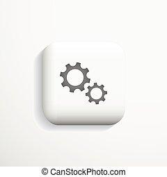 Icon, configuration, option deign. - 3d configuration icon -...