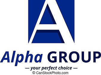 Vector minimalistic negative space greek letter logo Alpha...