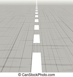 Road template with perspective.