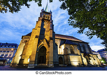 Saint-Francois Church in Lausanne Lausanne, Vaud,...