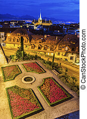 Lausanne panorama with Saint-Francois Church - Lausanne...