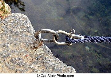 A pin of mooring.
