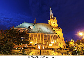 Cathedral Basilica of St James the Apostle in Szczecin...