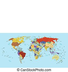 World - Political detailed map of the world