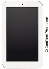 White smart-phone design, isolated on white.