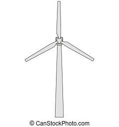 Wind generator. Vector EPS10