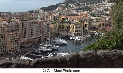 Boats and yachts in Monaco's Port in sunny day