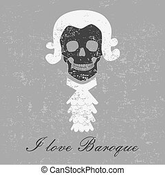 Baroque skull - The interesting skull with baroque motive