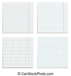 Set of paper sheets.