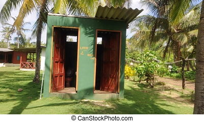 toilet outhouse nicaragua - outhouse toilet building in...