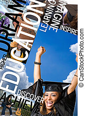 Education Montage - An education montage or layout with...