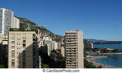 Beautiful houses in Monaco, Monte Carlo at summer