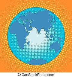 Earth Eurasia Africa Australia Antarctica Asia Europe pop...