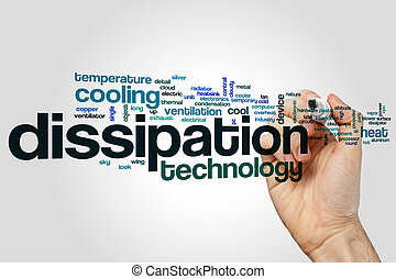 Dissipation word cloud concept - Dissipation word cloud