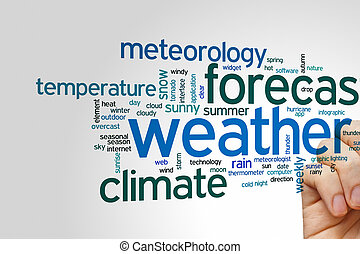 Weather forecast word cloud - Weather forecast concept word...