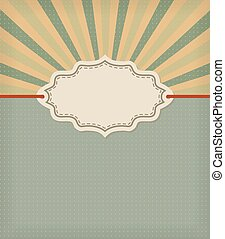 old fashioned frame with stripes background. retro vector design template