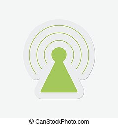 simple green icon - transmitter - simple green icon with...