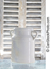 can container for milk isolated