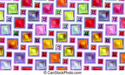 video loop moving colorful seamless squares