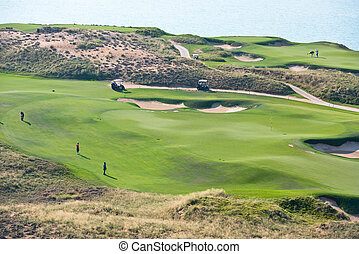 golf resort with the scenery of the sea summer vacation