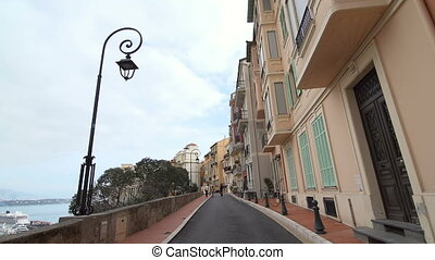 Narrow street in Monaco - Tourism to narrow street in Monaco