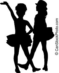 Silhouette children