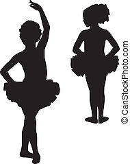 Happy silhouette ballerinas