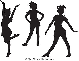 Joy silhouette children