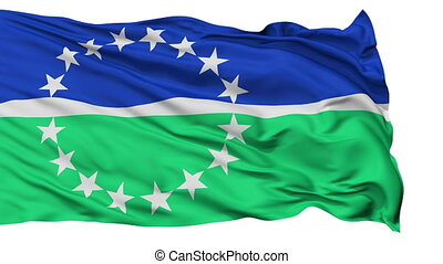 Isolated Waving National Flag of Hampton Roads City,...