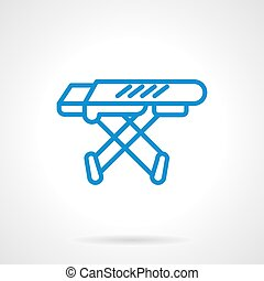Ironing board blue line vector icon - Equipment for...