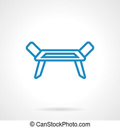 Clotheshorse blue line vector icon - Equipment for laundry....