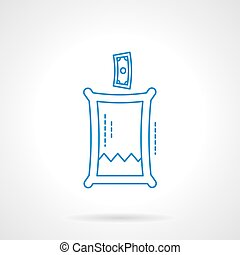 Charity fund flat line vector icon - Abstract transparent...